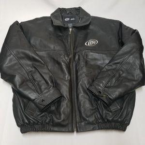 Harley Davidson Leather Coat MILLER LITE Vintage